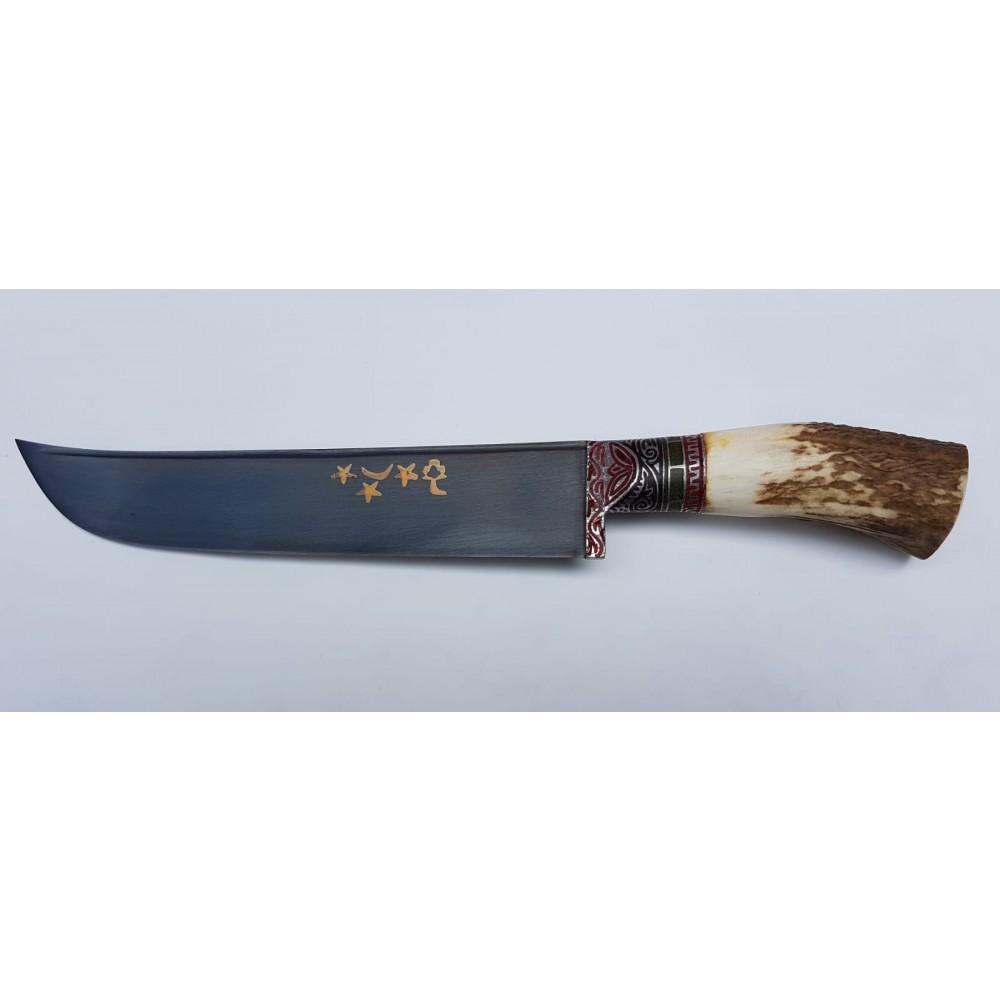 Özbek Ulubey Geyik Boynuzu Saplı Av Bıçağı