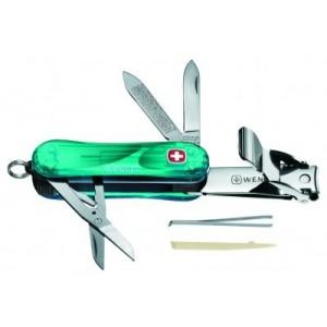 Wenger Tırnak Makaslı Çakı Şeffaf K.Yeşil Nail Clip 580.605