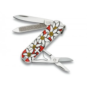 Victorinox Çakı 0.6203.840 Classic Edelweiss Çiçek Desenli
