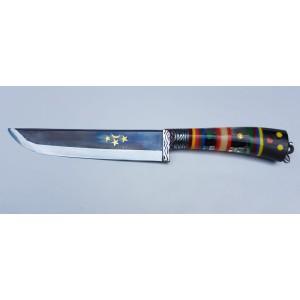 Özbek Ulubey Boynuz Plastik Saplı Bel Bıçağı