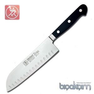 Sürmene Sürbisa 61950 Dövme Oluklu Santoku Şef Bıçağı