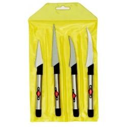 Pirge Dekor Bıçağı Seti PG41330 (4 'lü set)