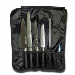 Pirge Titan Çantalı Şef Bıçak Seti ( 7 Parça )