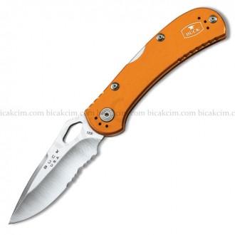 buck-caki-7455-spitfire-testereli-turuncu-722-aliminyum-sapli